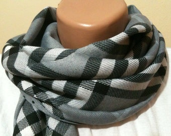 Plaid Unisex Scarf Christmas Gift Men Scarf