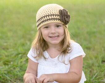 baby girl hat, baby hat, crochet baby hat, girls hat, baby girl's hat, little girls hat, yellow girls hat