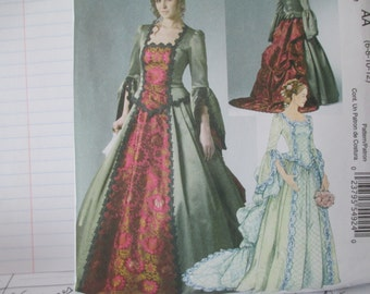 Women's Victorian Dress Sewing Pattern, McCall's 6097, Costume, Size 6-12