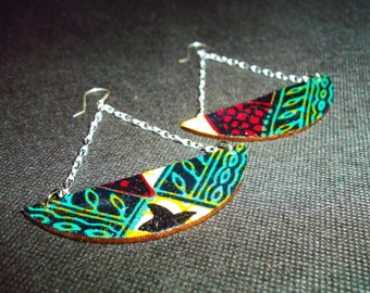 Uzoti Wood & Fabric Earrings