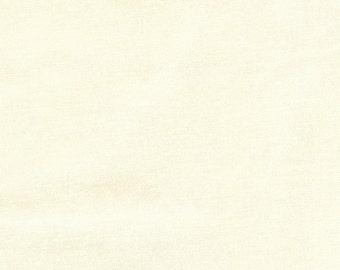 Bella Solid 9900 11 Snow by Moda Fabrics Cream Cotton Quilting Fabric One Yard