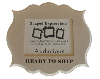 READY TO SHIP - 8x10 Audacious -  unfinished picture frame
