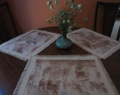 Place Mats with Eco-Prints