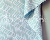 Herringbone in Pond (Aqua Blue) - Modern Meadow by Joel Dewberry for Freespirit Fabrics - 1/2 Yard