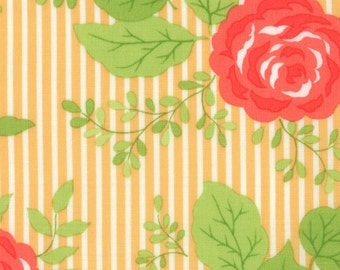 Happy Go Lucky - Bloom - Orange - Bonnie & Camille for Moda Fabrics - 55060 16 - 1/2 yard, Additional Available