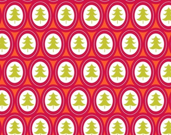 Treelicious - Jingle Bells in Red - Maude Asbury for Blend Fabrics- 1/2 Yard