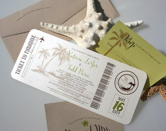 Boarding Pass Wedding Invitations, Boarding Pass, Wedding Invitation, Travel Theme Wedding, Destination Wedding