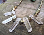 Amar - One Of A Kind Crystal Quartz Gemstone Necklace