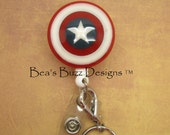 SUPERHERO Id BADGE - Superhero,Retractable Badge Reel,Badge Id Holder,Badge Clip,Male Nurse,RN,Nurse,Male gift,Geekery,Geek,Comics,Id Badge
