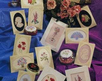 Pattern for country cross-stitch parchment keepsakes