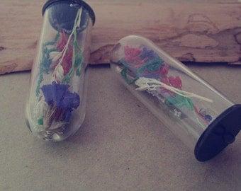 2pcs glass pendant charm 18mmx51mm