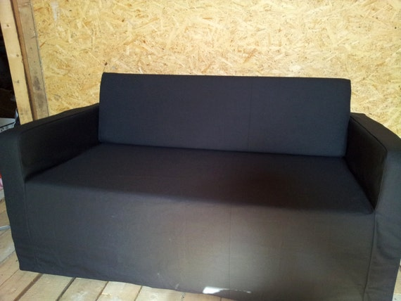 Slipcover For Solsta Sofa-bed From IKEA Strong Dark Grey