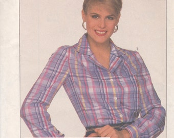 Classic Notched Collar Blouse Pattern Simplicity 7662 Size 12