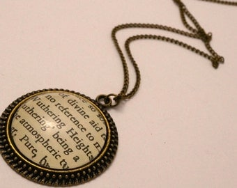 Wuthering Heights necklace literary jewellery