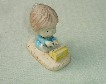 Vintage Hallmark Lollipops Figurine Playing Piano by Mary Links - 1970's