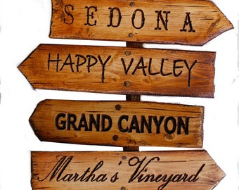 Custom Personalized Road Sign with your Special Destinations