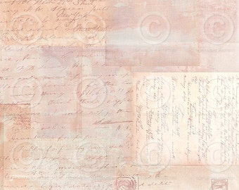 Printable Background Vintage Ephemera Sheet  as an instant Digital Download File