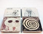 Tim Burton Drawing Coasters