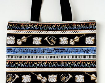 Music Tote Bag - Multiple Music Instruments Tote Bag -Music Gift
