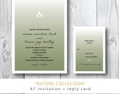 Nature Collection | Wedding Invitation and additional other suite pieces | Printed or Printable by Darby Cards