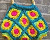 funky flower bag, a splash of vibrant colour for grey days