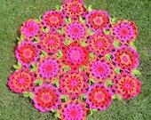 pattern for hot flower blanket
