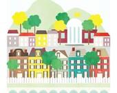 Virginia art print illustration - 11x14 - art poster Virginia