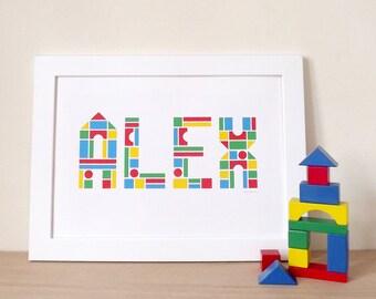 Custom name print, Baby name print, Nursery art, Babies name, Kids name print, Personalised Child Name Print