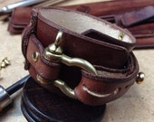Steampunk leather cuff. Made to order