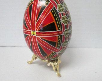 Ukrainian egg art pysanky goose egg Ukrainian Easter Egg 9 1/2 inch egg