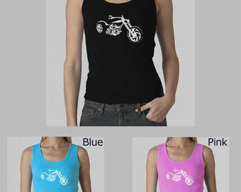 Women's Beater Tank Top - Created out of different slang terms for a Motorcycle