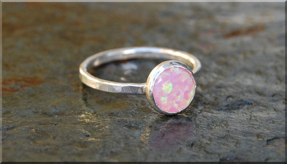 items similar to pink opal stacking ring simple stacking