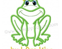 Instant Download - Princess and Prince Designs Prince Frog Applique Prince Design Embroidery Applique 5x7 and  6x10 hoops
