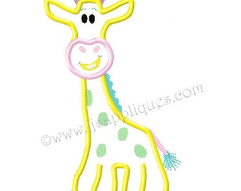 Instant Download - Zoo Animals Jungle Animals Embroidery Applique Design - Giraffe 4x4, 5x7, 6x10 hoops