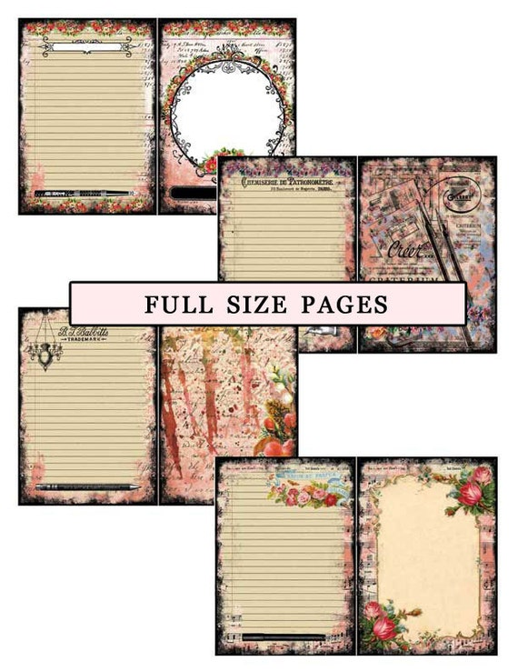 ADD On Polished Lack Luster Full Size Pages Part 1- INSTANT DOWNLOAD