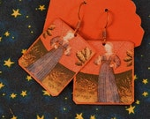 Horoscope Jewelry Virgo earrings Astrological Jewelry Mixed media jewelry
