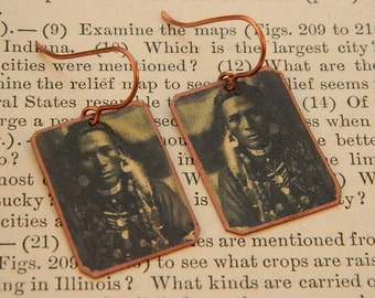 Native American inspired earrings Native American inspired jewelry mixed media jewelry