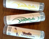 Clear Vegan Lip Balms - Vanilla, Mint, or Lemon