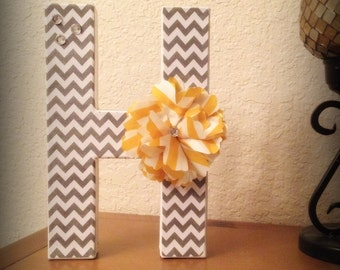 Cardboard Letter of Choice with EMBELLISHMENTS 8 inches tall