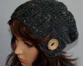 Hand knitted warm slouchy beanie. Soft and comfortable hat, perfect for colder seasons! Available in many colours.