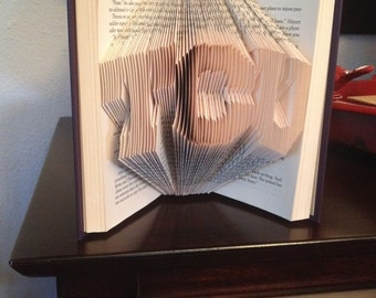 TCU Folded Book Art Book Sculpture Texas Christian University