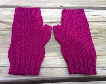 Women's Cable Knit Fingerless Gloves