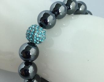 Blue Hematite Macrame Bracelet