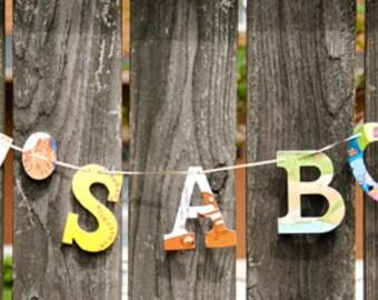IT'S A BOY Board Book Garland -- Nursery Gender Reveal Celebration Party Shower Son Bookish Teacher Books Reading Literacy