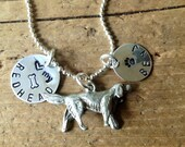 Irish Setter Custom Necklace Dog Jewelry Personalized with your Dog's name Pet Memorial Redhead