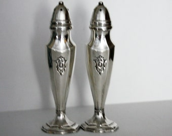 Vintage Trent Silverplated Salt & Pepper Shakers