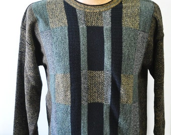 vintage 1980s Cellinni long sleeve sweater---size medium--mans sweater