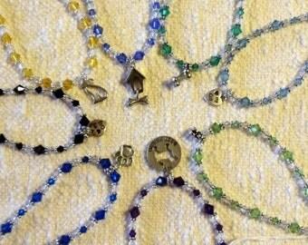 Pet Charm Bracelet with Swarovski Crystal