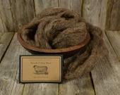 Potting Soil -  Organic Needle Felting  Wool - Natural Wool Roving - Wet Felting Wool-Spinning