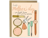 Mothers Day Card - Mom Stuff Card, Mother's Day Card, Happy Mothers Day, Best Mom